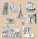 Travel background Stock Image