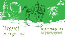 Travel background color Royalty Free Stock Photography