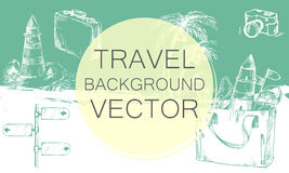 Travel background color Royalty Free Stock Images