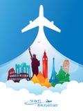 Travel background Stock Photography
