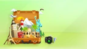 Travel background illustration Stock Photo