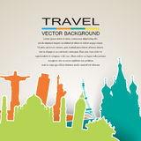 Travel background Stock Image
