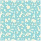 travel background, pattern stock illustration