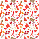 travel background, pattern Stock Photo