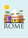 Travel background of Rome. Stock Photography