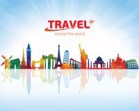 Free Travel Background Skyline Royalty Free Stock Images - 91860539