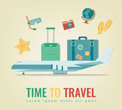 Travel background. Summer holidays. Travel and tourism concept. Vector Stock Photos