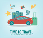 Travel background. Summer holidays. Travel and tourism concept. Vector Royalty Free Stock Photo