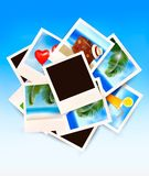 Travel background with vacation photos. Royalty Free Stock Photo