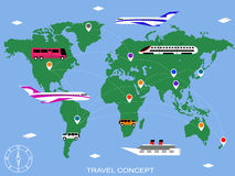 Travel background vector Royalty Free Stock Image