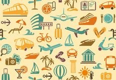 Travel background. Vector illustration Royalty Free Stock Images