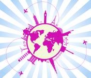 Travel background  vector illustration Stock Photos