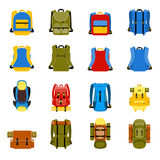 Travel backpack, camping rucksack and school bag Stock Photo