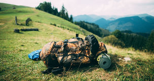 Travel backpack Royalty Free Stock Photography