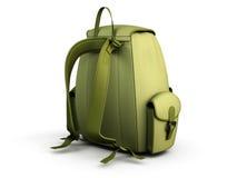 Travel backpack isolated on white background. Stock Photo