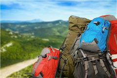 Travel Backpack Royalty Free Stock Photo