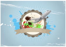 Travel badge Royalty Free Stock Image