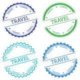 Travel badge isolated on white background. Royalty Free Stock Photos