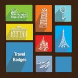 Travel badges Royalty Free Stock Photos