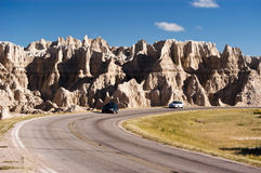Travel in the Badlands stock image