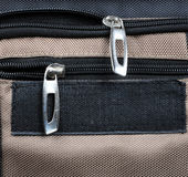 Travel bag. Detail travel bag with zip Royalty Free Stock Images