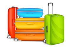 Travel Bag. Vector illustration of travel bag and luugage Royalty Free Stock Image