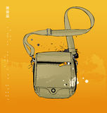 Travel bag. Isolated on yellow background Royalty Free Stock Image