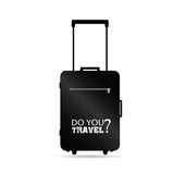 Travel bag black art vector Royalty Free Stock Images