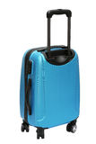 Travel Bag. Blue Travel Bag with Wheels Standing on White Background Stock Images