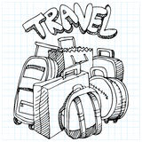 Travel Bag Drawing. An image of a travel bag drawing Stock Photo