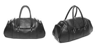 Travel bag fashion leather isolated Stock Photos