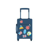 Travel bag with handle on wheels Royalty Free Stock Photography