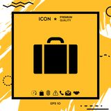 Travel bag icon. Element for your design Stock Photo