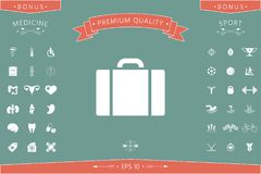 Travel bag icon. Signs and symbols - graphic elements for your design stock illustration
