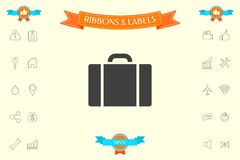 Travel bag icon. Signs and symbols - graphic elements for your design royalty free illustration