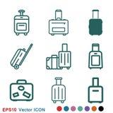 Travel bag icon vector sign symbol for design. Travel bag icon vector sign symbol stock illustration