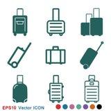 Travel bag icon vector sign symbol for design. Travel bag icon vector sign symbol vector illustration