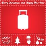 Travel bag Icon Vector Royalty Free Stock Photo