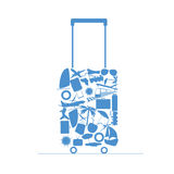 Travel bag  illustration Royalty Free Stock Image