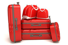 Travel Bag and Luggage. Illustration of 3d image of travel bag and luggage Royalty Free Stock Photos