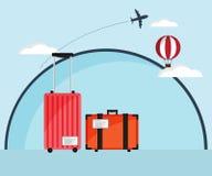 Travel Bag, Luggage Flat Design Royalty Free Stock Photos