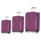 Travel, bag, luggage, flat, vector Royalty Free Stock Image