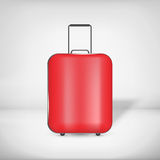 Travel bag. Red travel bag with handles Stock Photo