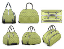 Travel bag set  on white background. 3d rendering Royalty Free Stock Photos