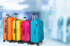 Travel bag. Travel airport luggage bag flight airplane Royalty Free Stock Images