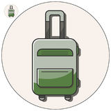 Travel bag vector icon Stock Images