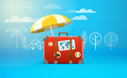Travel bag vector illustration. Vacation Royalty Free Stock Photography