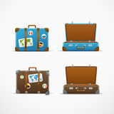 Travel bag vector set. Vacation design Royalty Free Stock Photos