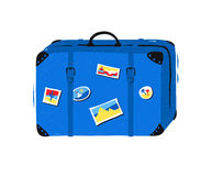 Travel bag on white background. Vector illustration of travel bag isolated on white background Royalty Free Stock Photos