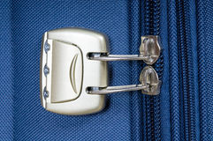 Travel bag with zipper and coding lock Royalty Free Stock Images
